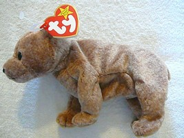 """Ty Beanie Babies Retired Light Brown """"Pecan"""" With Error Tag Mint Condition - $93.49"""