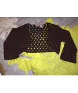 Xhilaration Brown Cotton Knit Bolero Jacket 3/4... - $7.99