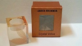 "Crystal Votive Holder ""Amber Shimmer"" by SD - $27.72"