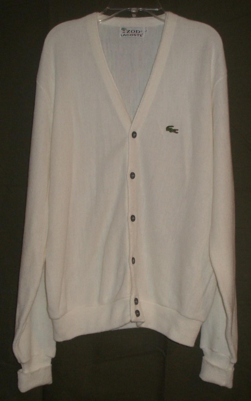 53d5b0ade Tradesy dec1 15 100. Tradesy dec1 15 100. Previous. New Izod Lacoste  Vintage Ivory Cardigan Sweater Mens ...