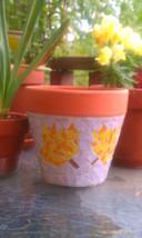 Fall leaf glass mosaic planter - $28.00