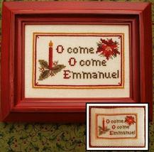O Come Emmanuel christmas cross stitch chart Prairie Grove Peddler  - $7.00