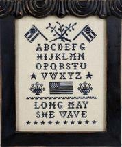 Patriotic Sampler cross stitch chart Prairie Grove Peddler  - $7.00