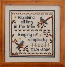 Singing Summers Song bluebird cross stitch chart Prairie Grove Peddler  - $7.00
