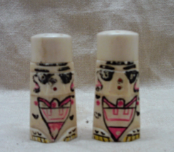 "Vintage Kitsch Miniature ""Plastic"" Totem Tiki Salt & Pepper Shakers  - $10.00"