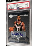 2013-14 Panini Totally Certified Giannis Antetokounmpo RC Auto PSA 9 Mint - $999.99