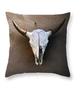 Hanging Skull, Throw Pillow, fine art, home decor, accent pillow, southw... - $41.99+