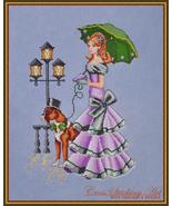 Rainy Day Stroll cross stitch chart Cross Stitching Art - $13.50