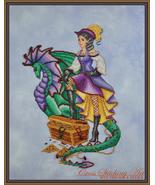 Margot The Treasure Keeper cross stitch chart Cross Stitching Art - $13.50