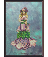 Lady Violett cross stitch chart Cross Stitching Art - $13.50