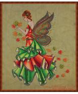 Fallyn The Fall Fairy cross stitch chart Cross Stitching Art - $13.50