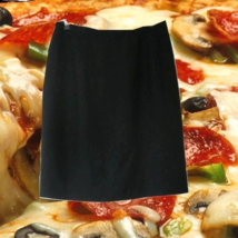 1980s vintage silk black anne klein short mini skirt size 10 medium large - $14.99