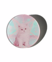 inverted pentagram pastel goth upside down cross cat pin kitten jewelry - $9.99
