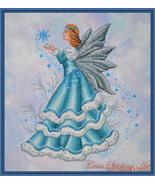 Celine The Winter Fairy cross stitch chart Cross Stitching Art - $13.50