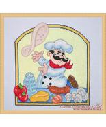 Pizza Chef cross stitch chart Cross Stitching Art - $13.50