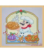 Christmas Chef cross stitch chart Cross Stitching Art - $13.50