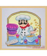 Baker Chef cross stitch chart Cross Stitching Art - $13.50