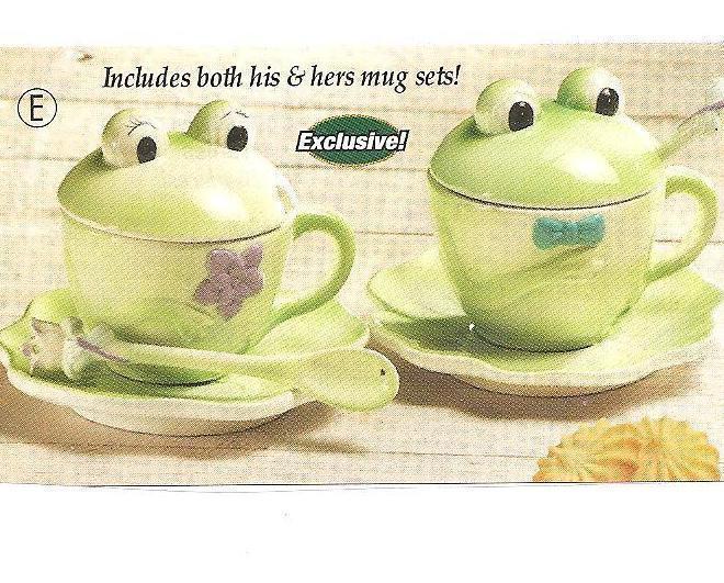 Frog Mug and Saucer Set