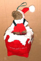 "Boyds Bears ""Wink & Smile Chimney Pillow"" #811338- 4"" Plush Bear Ornament-New - $19.99"