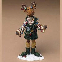 "Boyds Moosetroop ""MILO BINGLEMOOSE.. SANTAS HELPER"" #36915  -New- 2004 - $39.99"
