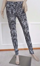 Nwt Joe's Designer Skinny Mid Rise Denim Jeans 25 0 Black White Houndsto... - $79.15