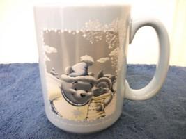 Walt Disney Winnie The Pooh W/ Piglet Ceramic Mug Cold Winter Snowy Days 2003 - $5.99