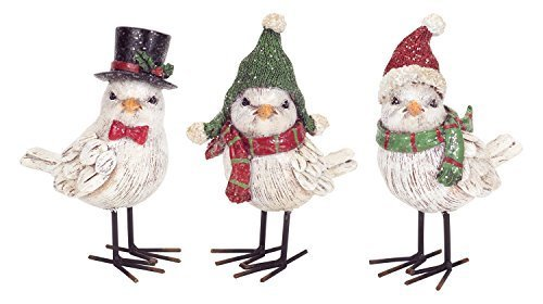 Set of 3 Whimsical Winter Birds in Hats and Scarves [Kitchen]