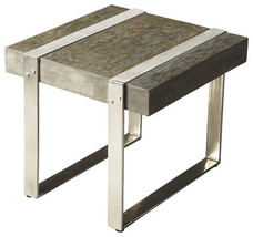 Restoration  Hardware Style Lucida Style Industrial Steel Accent Table - €233,66 EUR