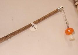 """HS-117 -6"""" Long Hair Stick  W/Orange Mushroom o... - $5.94"""