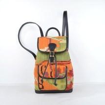 Vintage Kilim leather handbag, Leather Backpack Black,kilim Backpack Bla... - $210.00