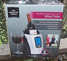 THE SHARPER IMAGE ADJUSTABLE TEMP WINE CHILLER UNUSED IN BOX MODEL KP-W400 - €19,48 EUR