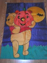Halloween Winnie the Pooh with Jack O Lantern Garden Flag - €21,36 EUR