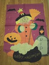Halloween Happy Witch Garden Flag - $23.83 CAD
