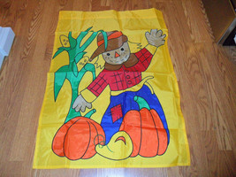 Halloween Thanksgiving Scarecrow & Pumpkins Garden Flag - $19.85 CAD