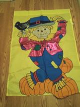Halloween Thanksgiving Scarecrow Garden Flag - $23.83 CAD