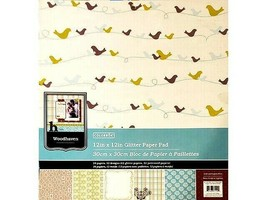 """Colorbok """"Woodhaven"""" 12x12 Specialty Cardstock Paper Pad #61120"""