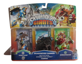 Skylanders Battle Pack #1 Chop Chop, Drangonfire Cannon, Shroomboom- Act... - $10.99