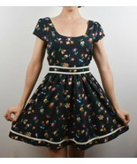 Lucca Couture Size 2 Floral Sleeveless Dress Navy - $22.36
