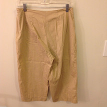 Talbots Womens' 97% Cotton 3% Spandex Blend Camel Beige Capri Short Pants