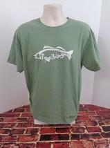 TOPSAIL Island North Carolina Green Short Sleeve T-Shirt Large L Beach Sand t - $16.65