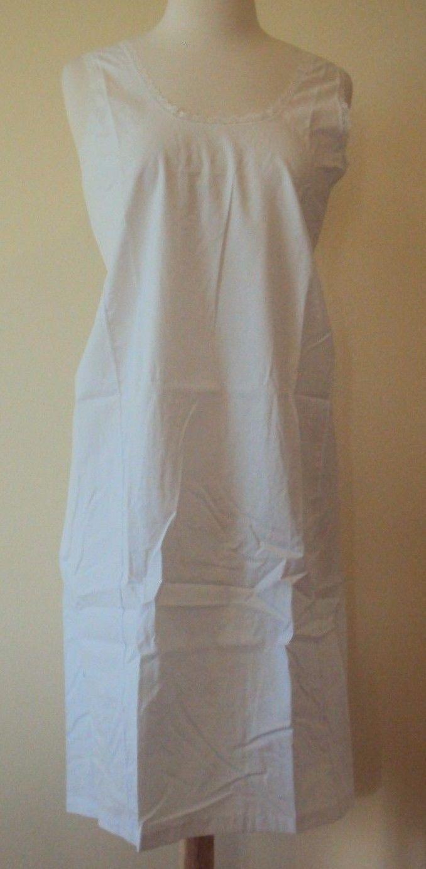 Velrose Lingerie Cool Cotton Cotton Full Slips White Style 801 size 36-54