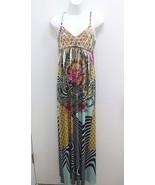 Gavriel Womens Small Petite Dress Maxi Sublimation Floral Geo Empire Wai... - $16.99