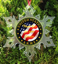 Thank You For Your Service U.S. Army Christmas Ornament   X Mas Ornament - $12.95