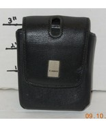 Canon Camera Case Black Leather Semi Hard Protective Padded Lined 4 x2.5... - $14.03