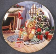 Happy Holidays Friend Collector Plate Cherished Teddies Priscilla Hillman  - $14.95