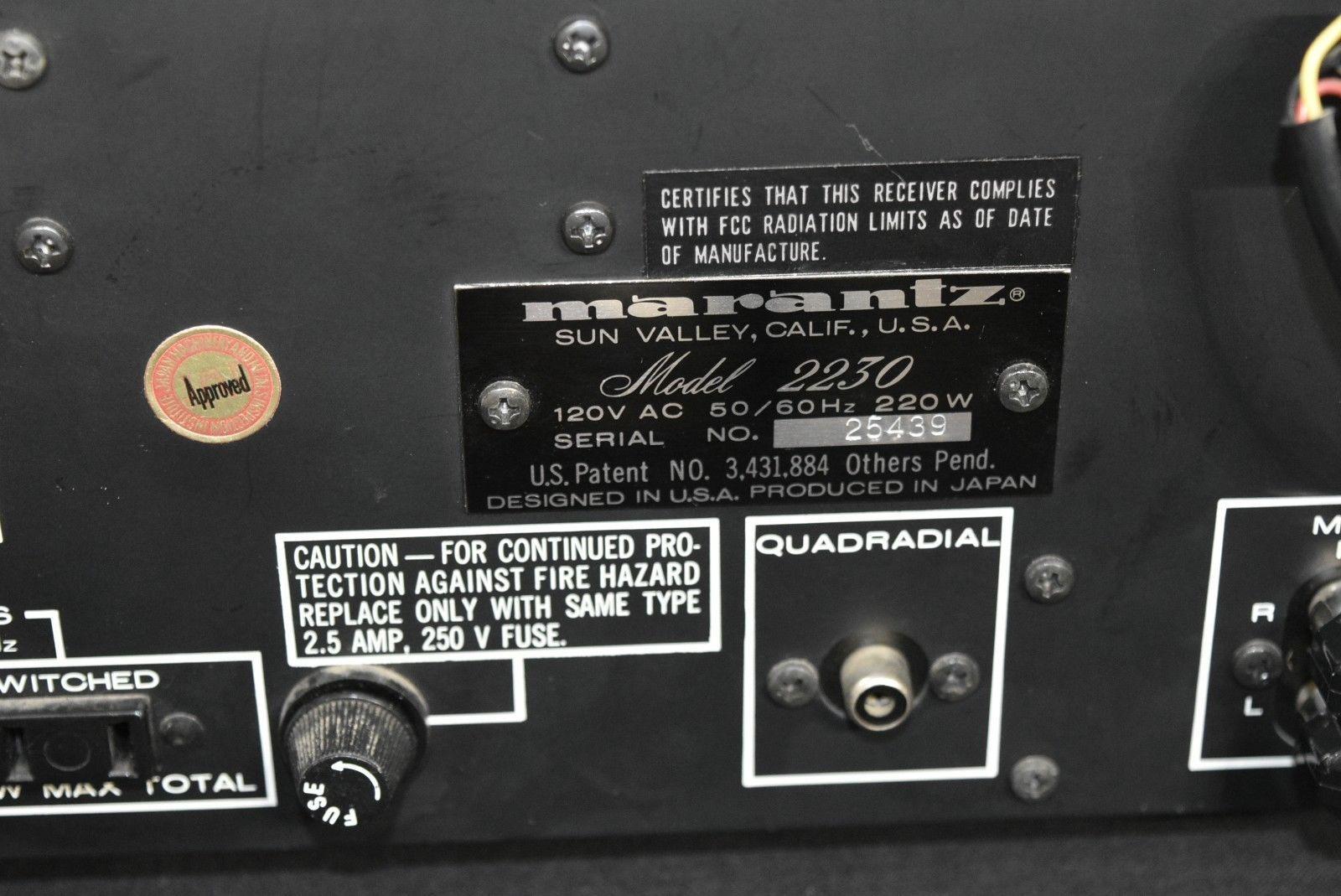 Vintage Marantz 2230 Prof  serviced with LED and 50 similar