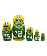 "Green Bay Packers nesting doll matryoshka babushka doll 5 pc, 6"" - $59.90"