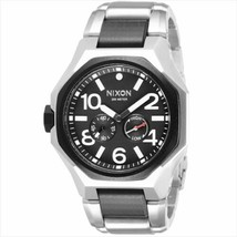 Nixon A397-000 The Tangent Black & Silver Tone Stainless Steel Men's Watch