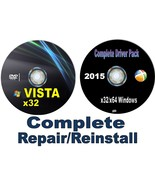 Windows Vista Home Premium x32/32 bit Fresh ReInstall Disc & Drivers~Repair - $8.99