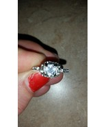 Sparkly Clear Rhinestone Cocktail Fashion Silvertone Ring Size 8, New Wi... - $12.99